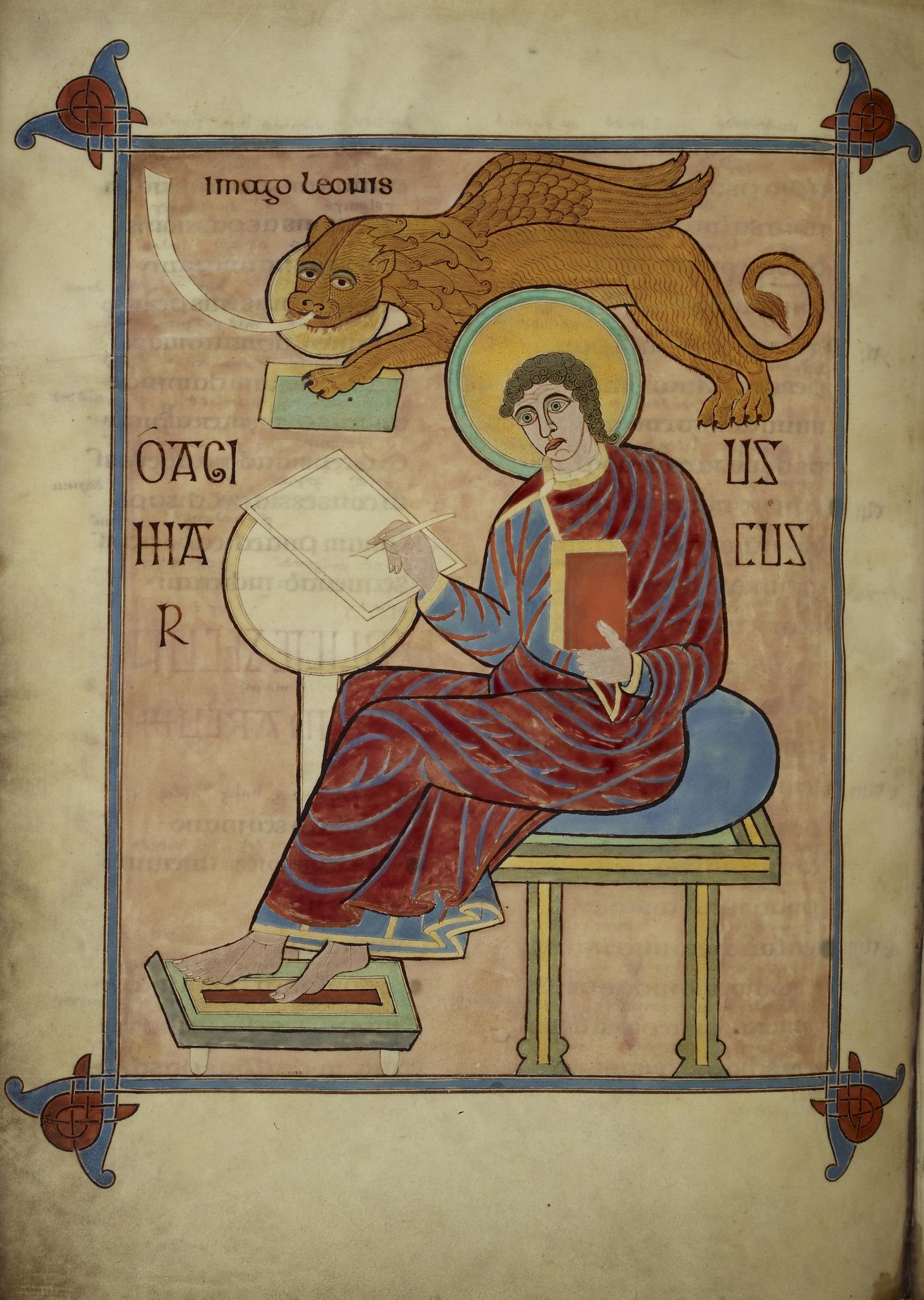 FileSt Mark  Lindisfarne Gospels 710721 f93v  BL