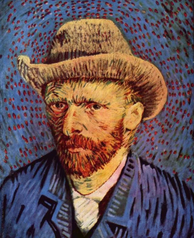 Van Gogh - Self Portrait with felt Hat