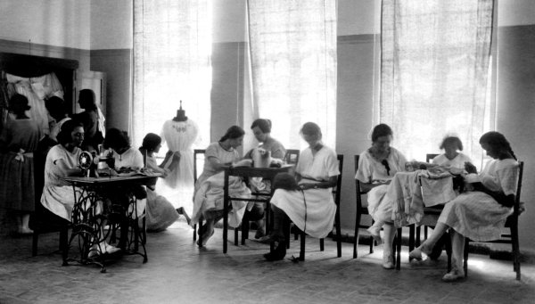 High School Sewing Class Images