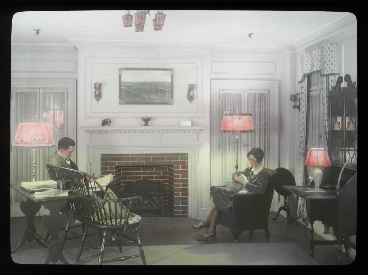 File:Couple in living room, circa 1930s.jpg