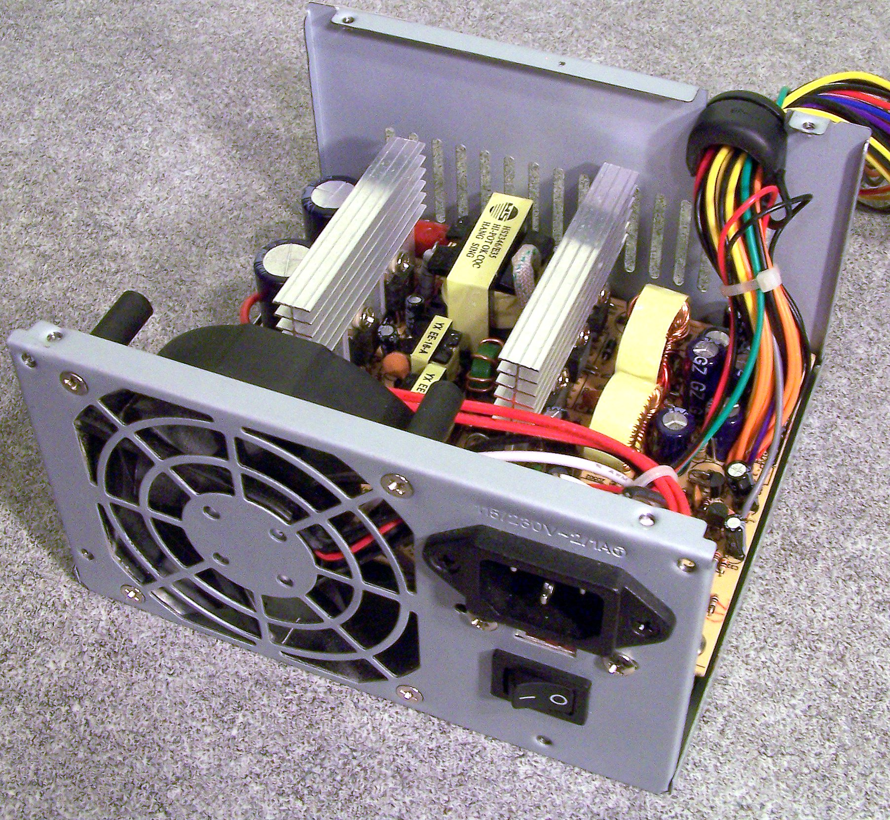 hight resolution of power supply unit computer