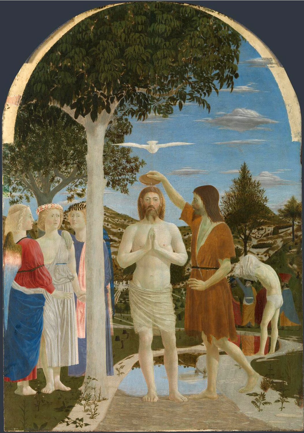 Piero della Francesca THe Baptism of Christ