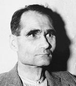 Rudolf Hess, seen here in prison in Nuremberg ...