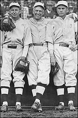 Duffy Lewis, Tris Speaker and Harry Hooper - B...