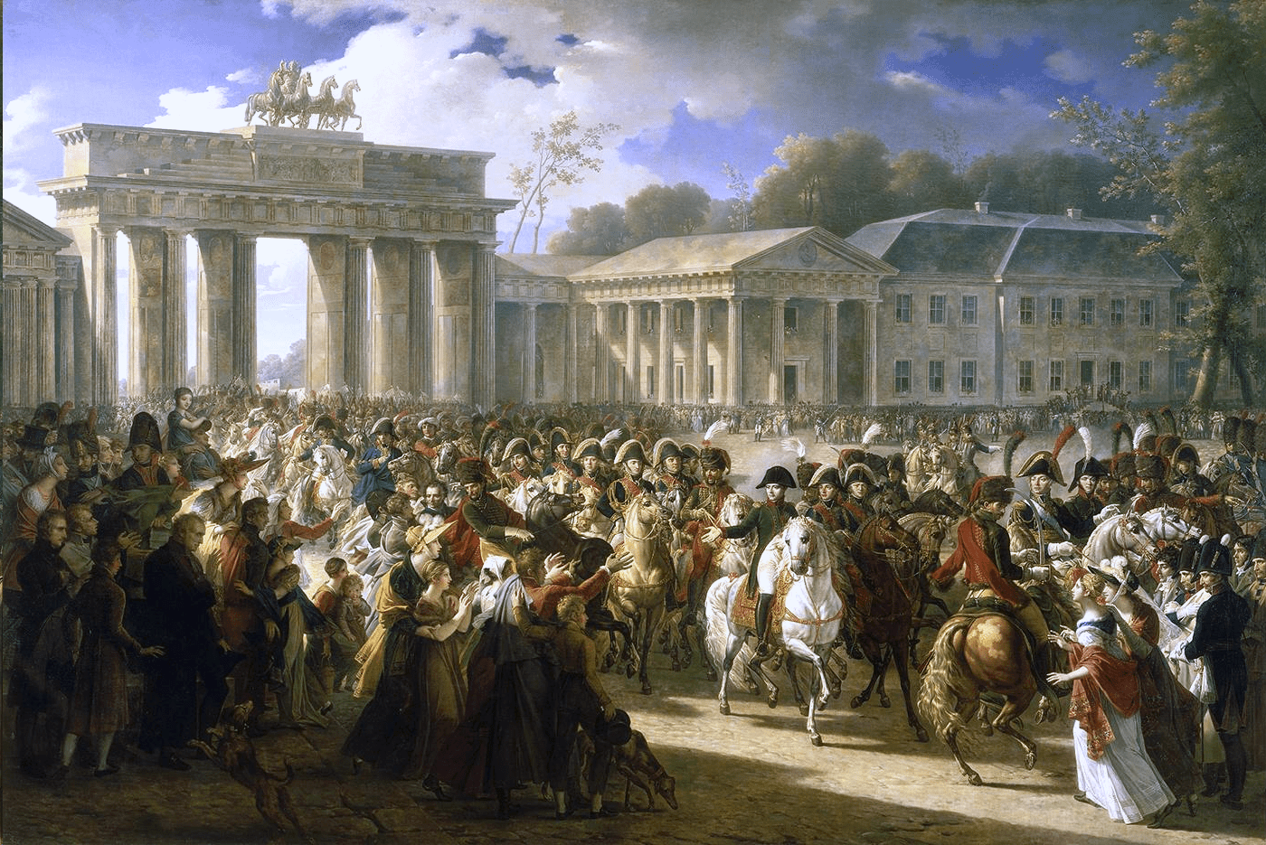 Napoleon in Berlin. After defeating Prussian forces at Jena, the French Army entered Berlin on 27 October 1806.