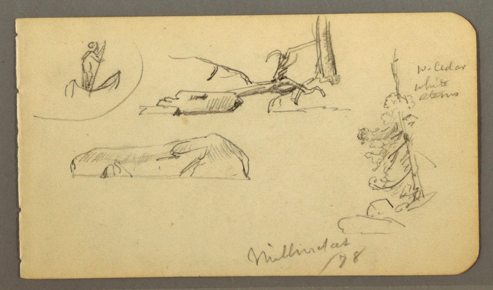 medium resolution of file drawing man in boat boulders tree trunk trees 1878