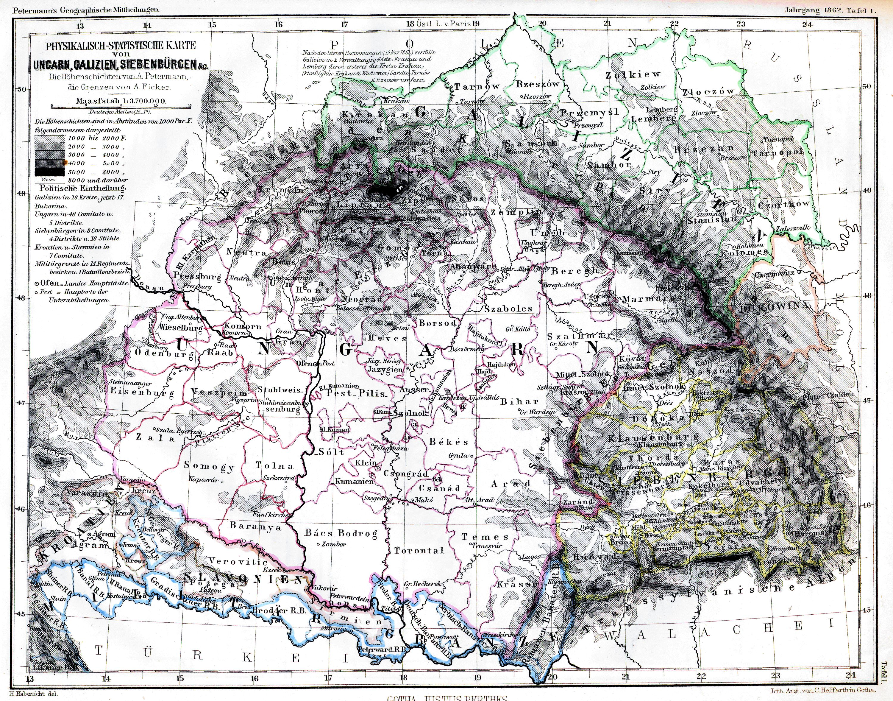 Image result for transilvania 1865 map