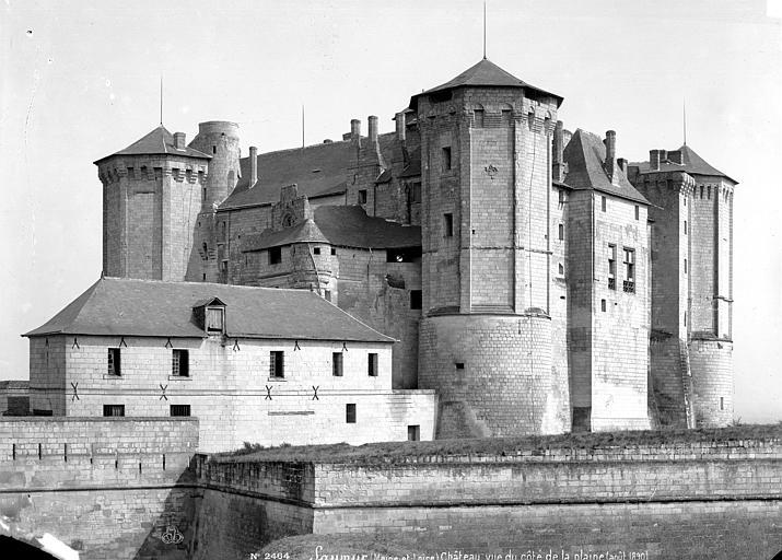 Saumur - Château vue sud - Mieusement