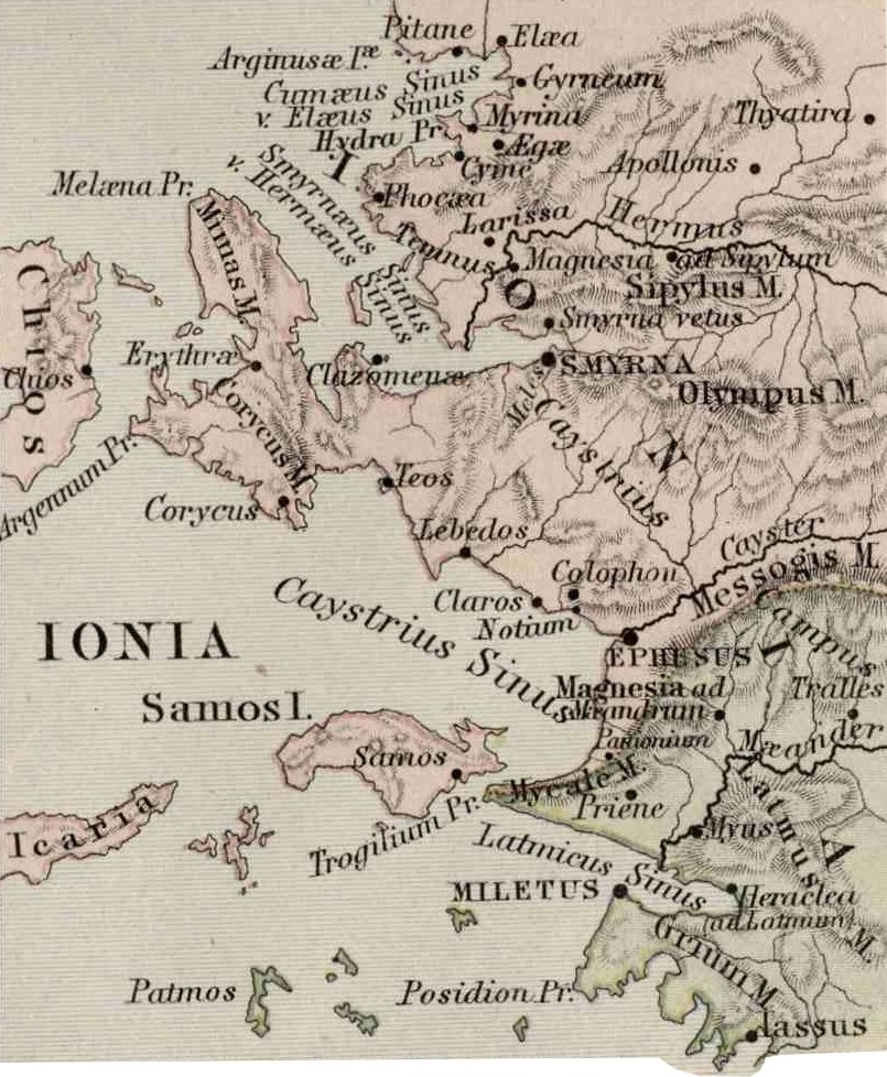 Colossae Map : colossae, Colophon, (city), Wikipedia