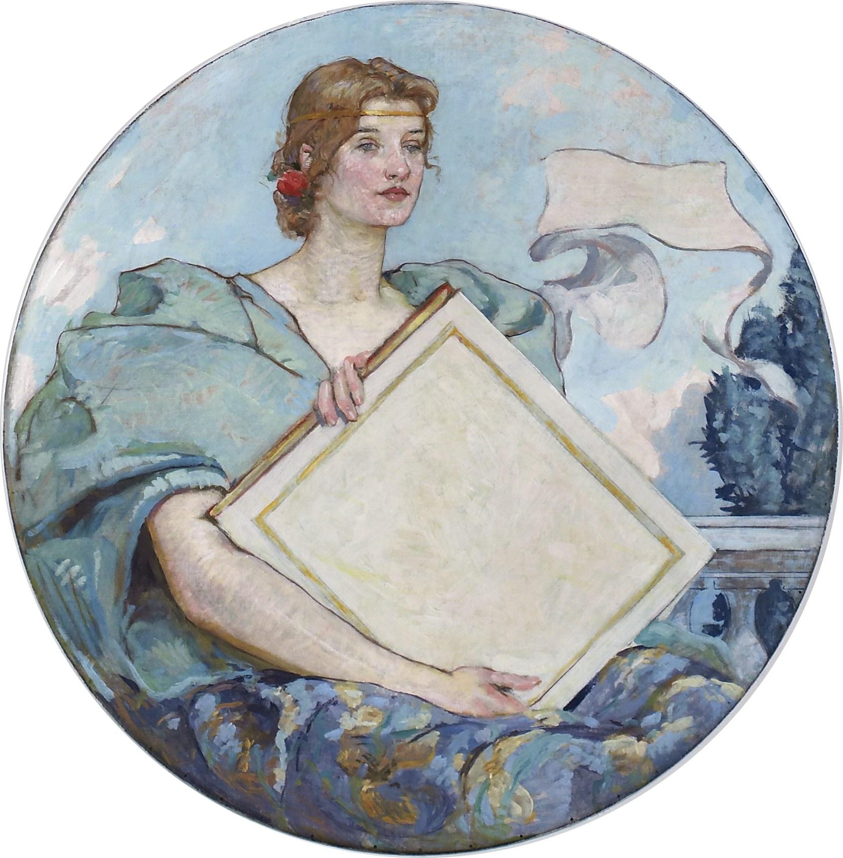 English: Knowledge, mural by Robert Lewis Reid...