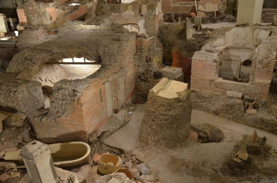 The Necropolis of the Via Triumphalis photo via Wikicommons