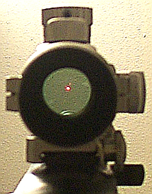 View through Tasco ProPoint II 5 MOA red dot s...