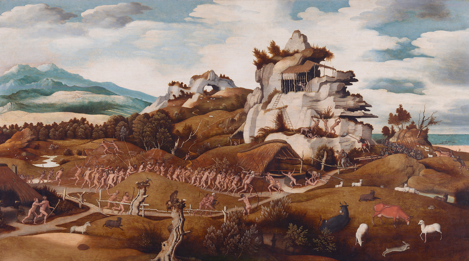 Episode from the conquest of America, by Jan Mostaert