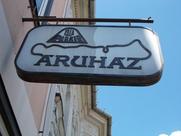 File Zala Balaton Department Store Sign. - Kossuth Lajos Street Keszthely 2016