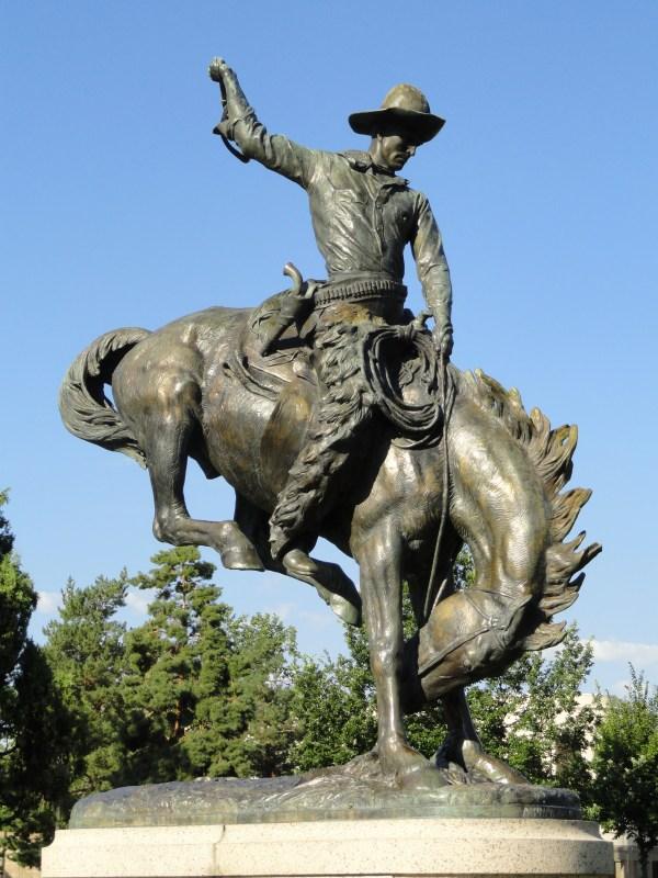Denver Bronco Statue Sculpture
