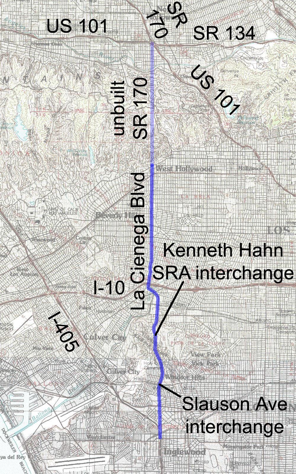 Sunset Strip Map : sunset, strip, Cienega, Boulevard, Wikipedia