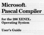 English: Microsoft Pascal compiler (1988)