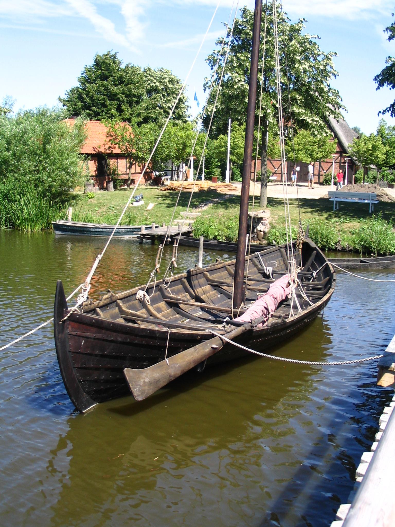 Replica of a Slavic merchant ship.