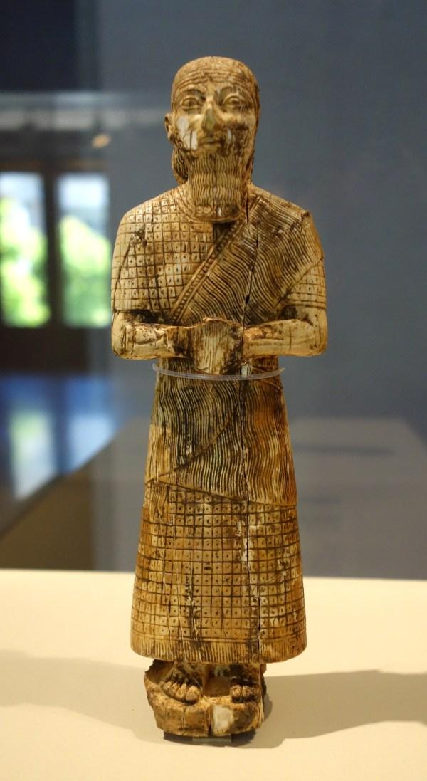 File Statuette Of Worshipper Iraq Western Iran 8th 7th Century Bc Ivory - Cincinnati