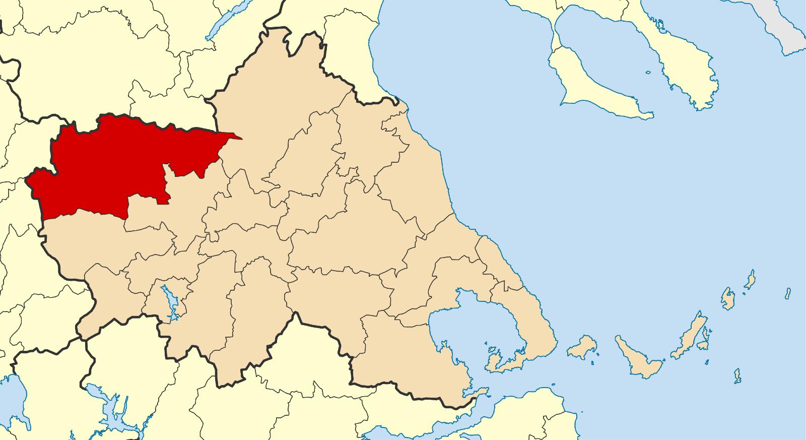 English: Locator map for Kalambaka municipalit...
