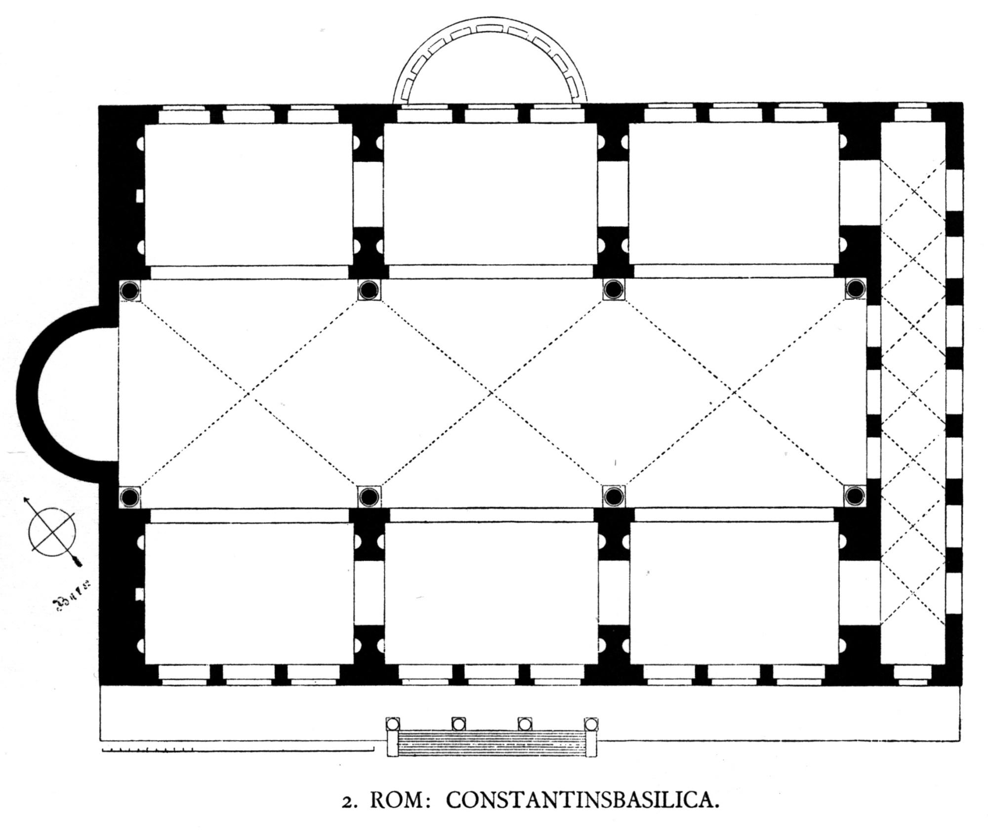 hight resolution of file dehio 6 basilica of maxentius floor plan jpg
