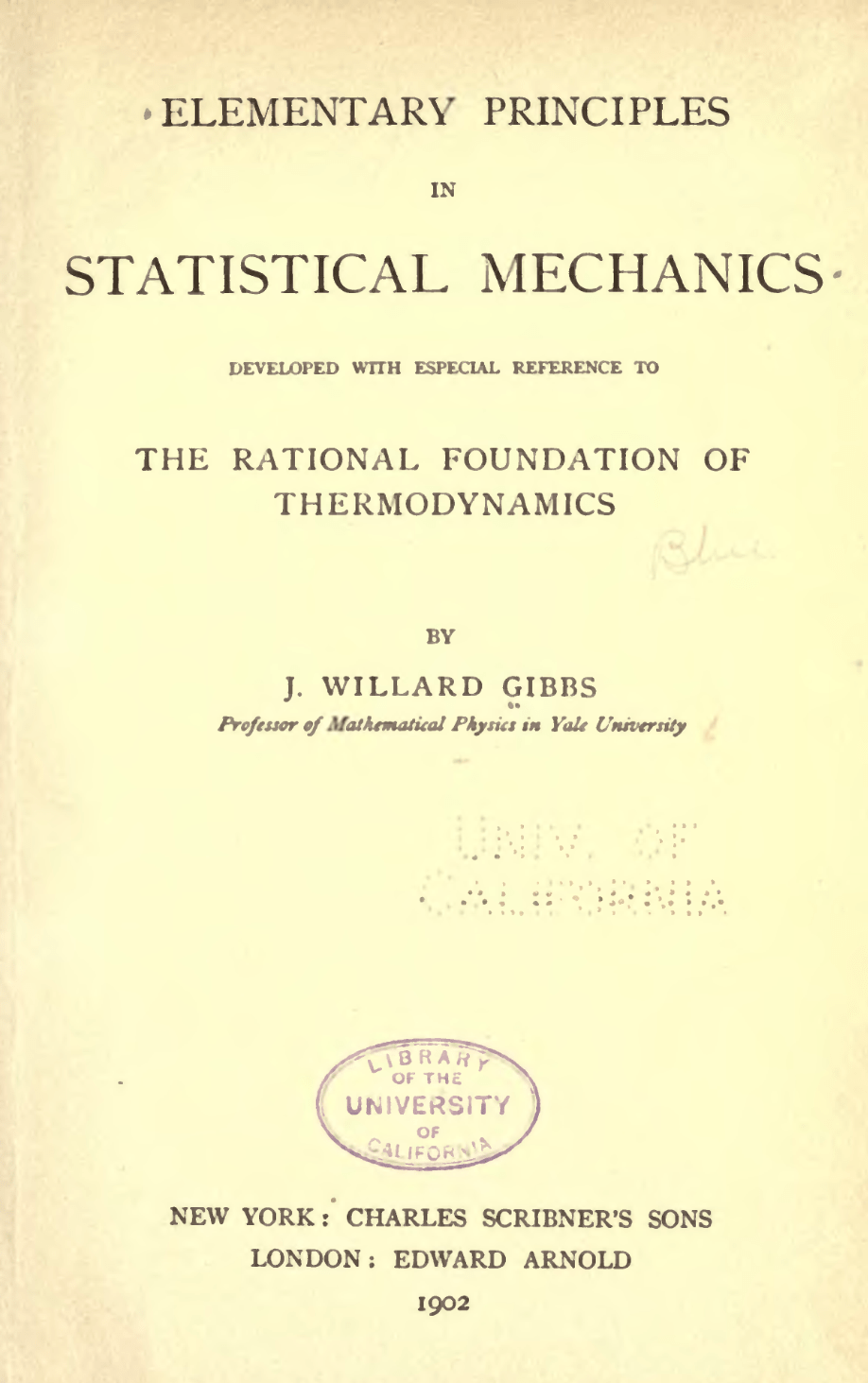 Elementary Principles in Statistical Mechanics  Wikipedia