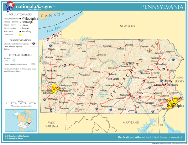 Geography of Pennsylvania Wikipedia