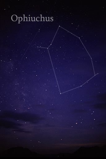 English: Photography of the constellation Ophi...