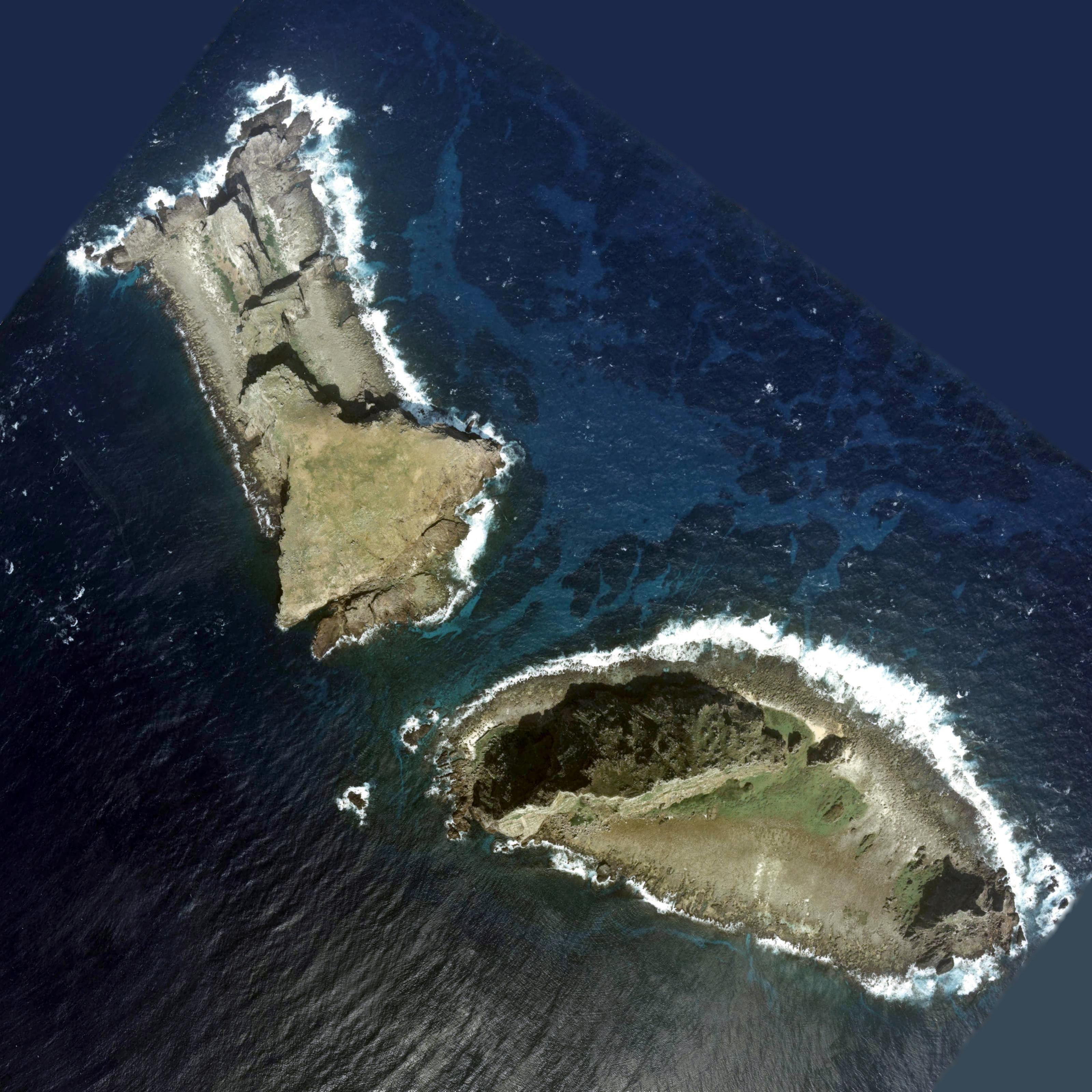 English: Aerial Photo of Kitakojima and Minami...