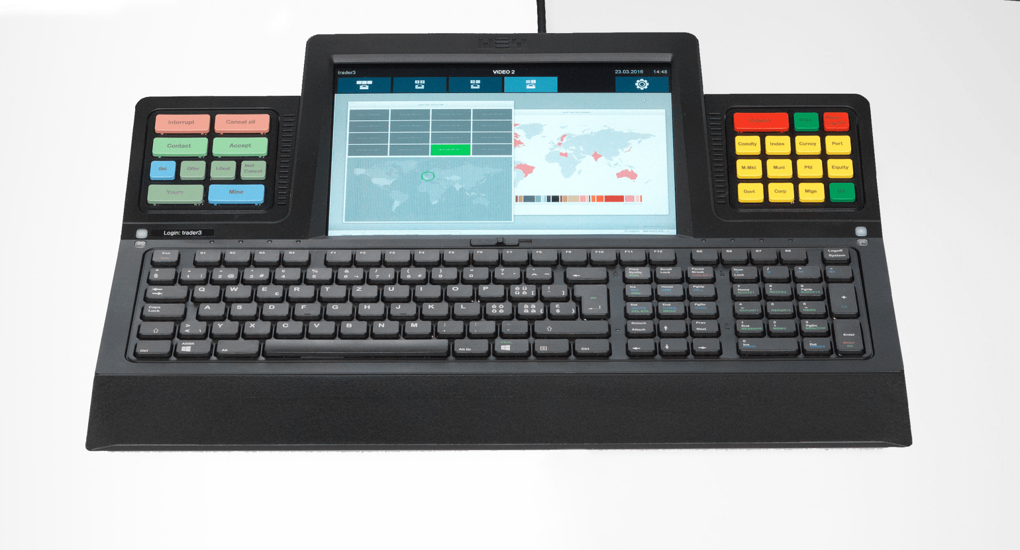 hight resolution of multifunction keyboard with touch