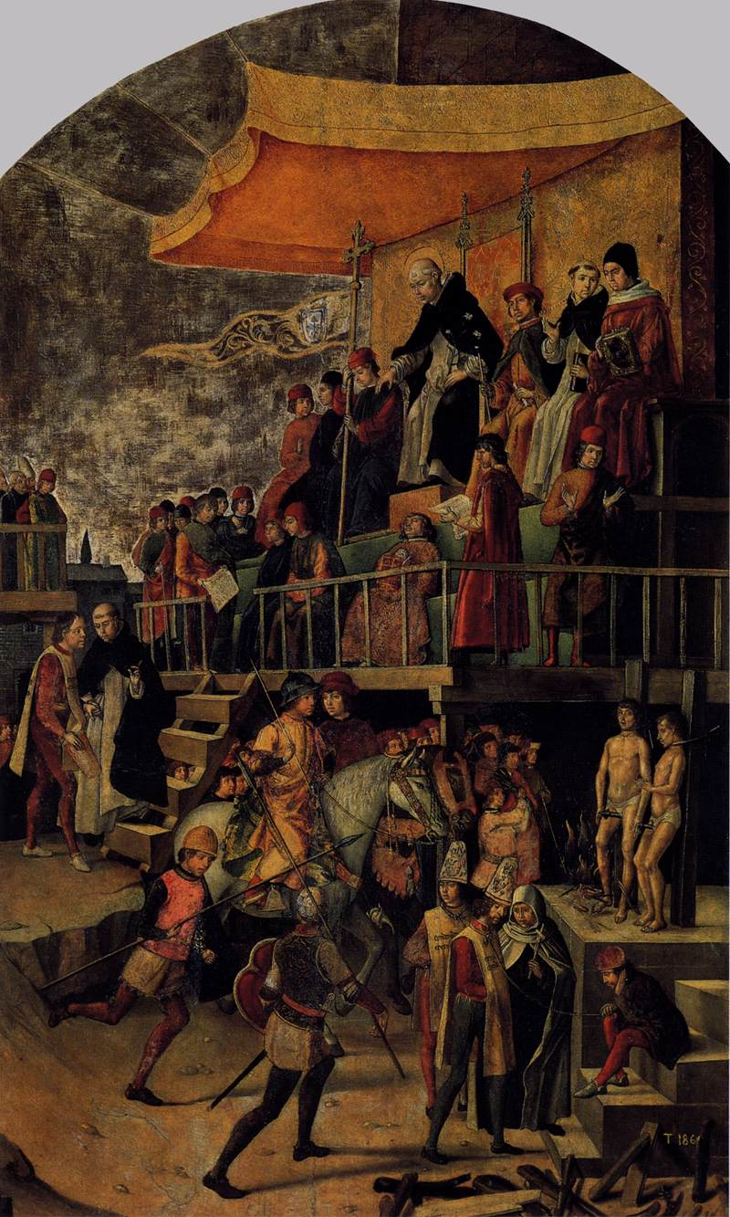 Pedro Berruguete: Burning of the Heretics