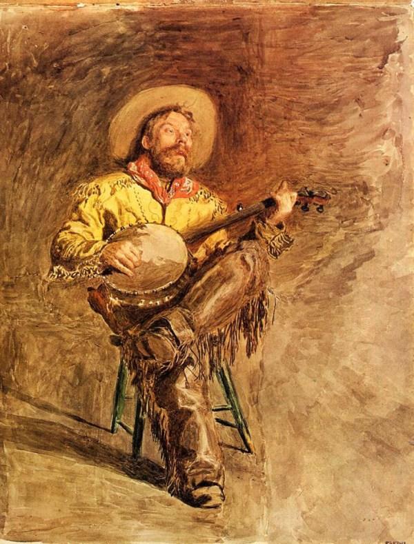 Thomas Eakins Singing Cowboy