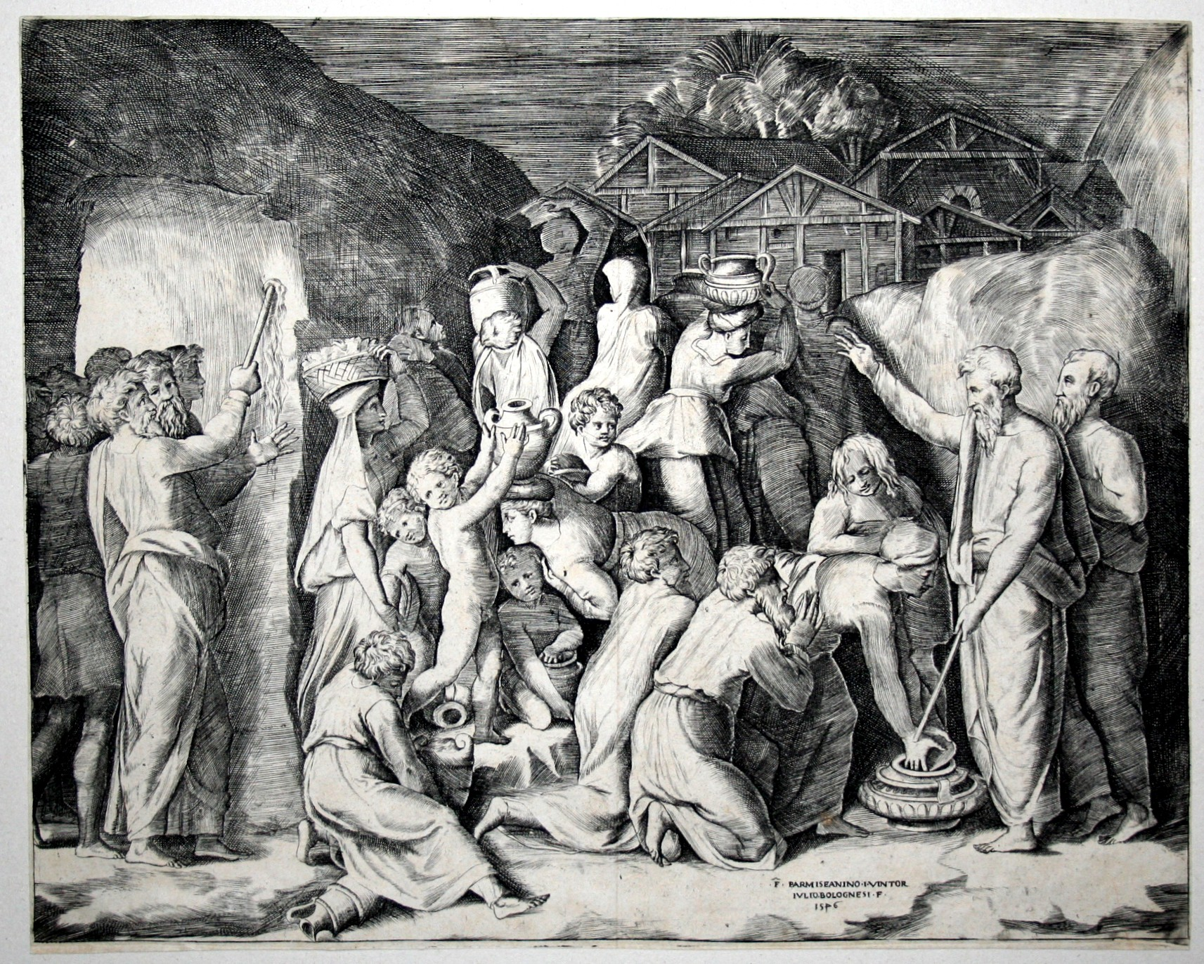 English: Moses telling the Israelites to gathe...