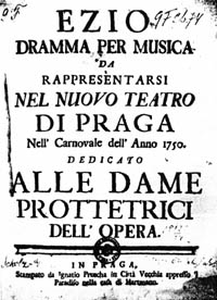 Česky: Titulní strana opery Ezio. English: Tit...