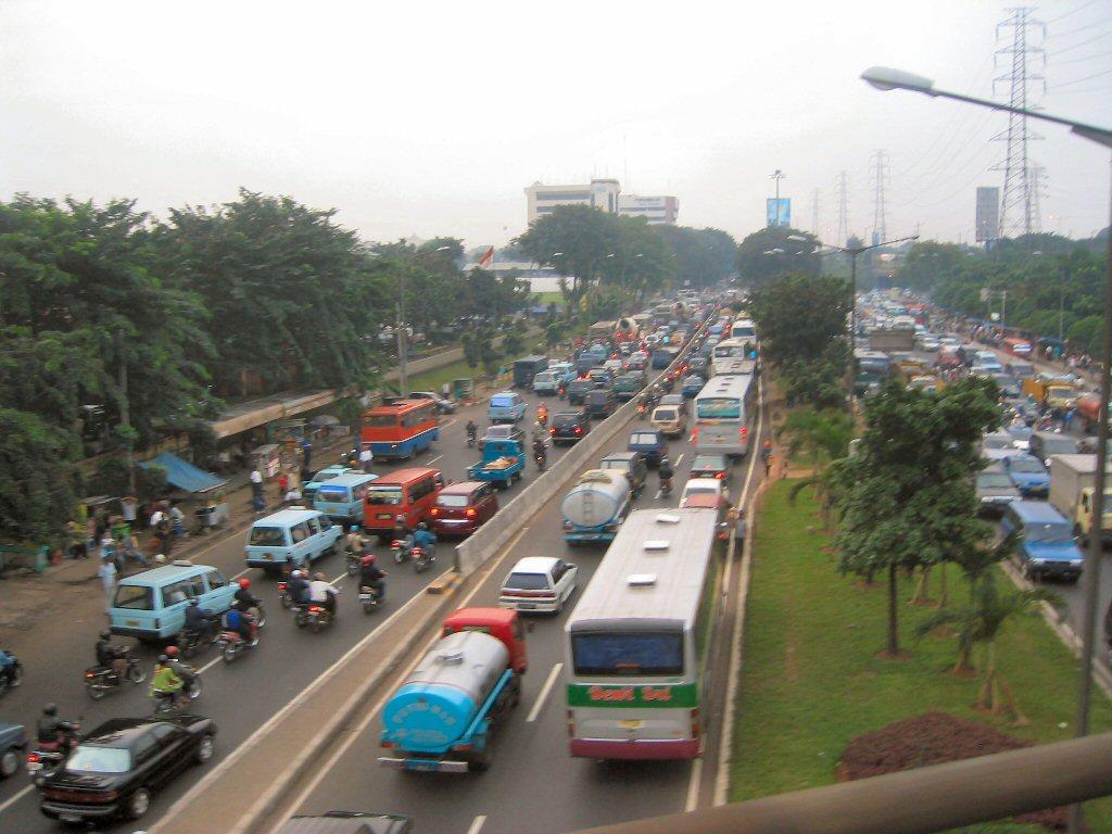 A road in Jakarta