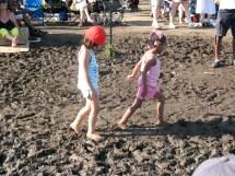 Kids Walking Barefoot in Mud