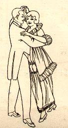 English: Dancing couple illustration