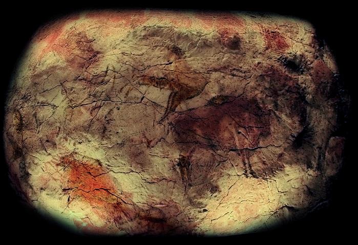 Español: Réplica del techo de la cueva de Alta...