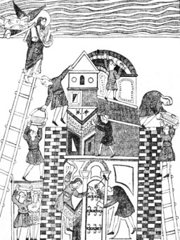 Building of the Tower of Babel.-From a Saxon MS p69