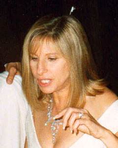 Streisand at Governors' Ball following 1995 Emmys