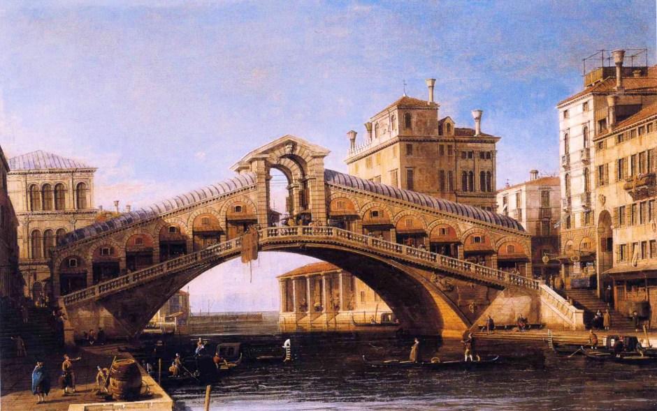 Obras de Canaletto em Veneza: Ponte de Rialto