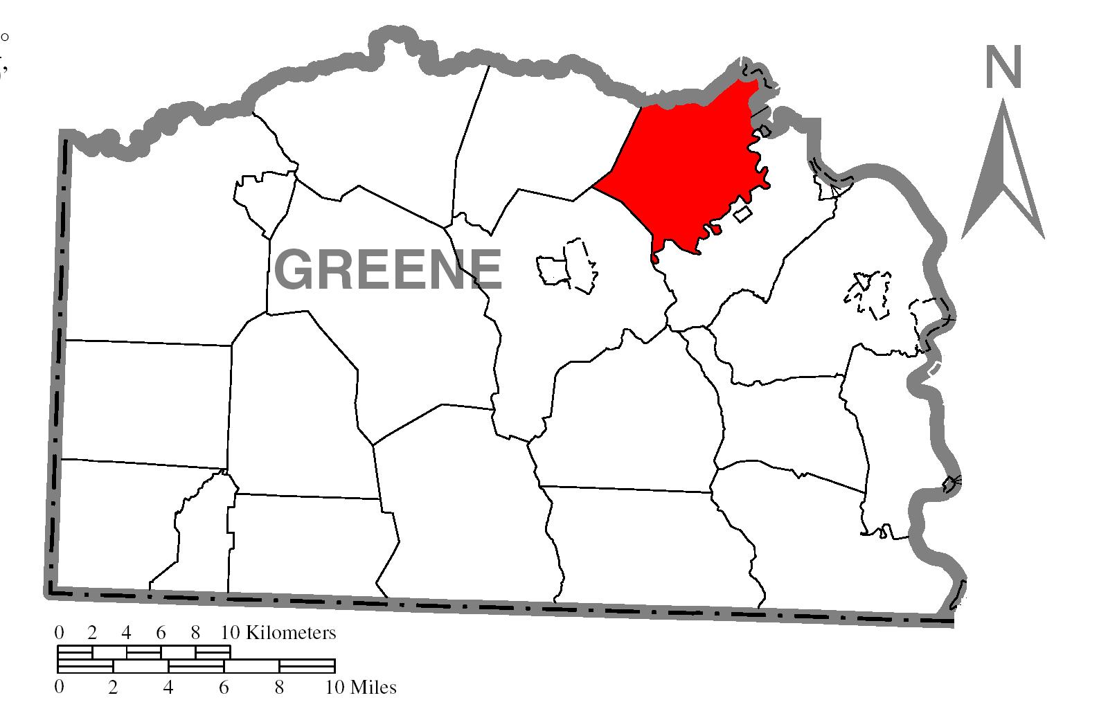 File:Map of Morgan Township, Greene County, Pennsylvania
