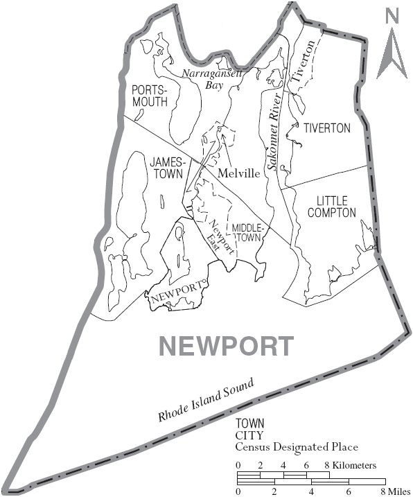 File:Map of Newport County Rhode Island With Municipal