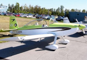 A Van's Aircraft RV-8 like those flown by Team AeroDynamix.
