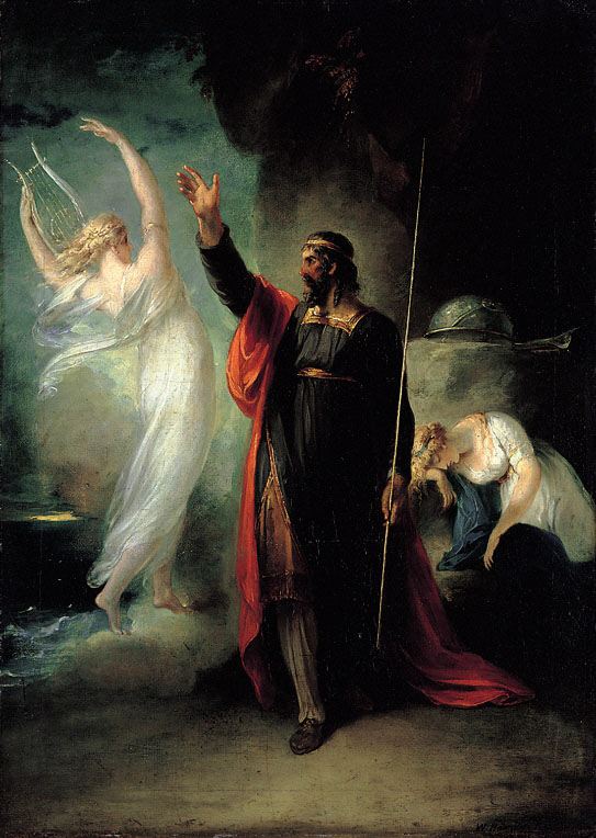 Prospero, Ariel and sleeping Miranda (William Hamilton, 1797)
