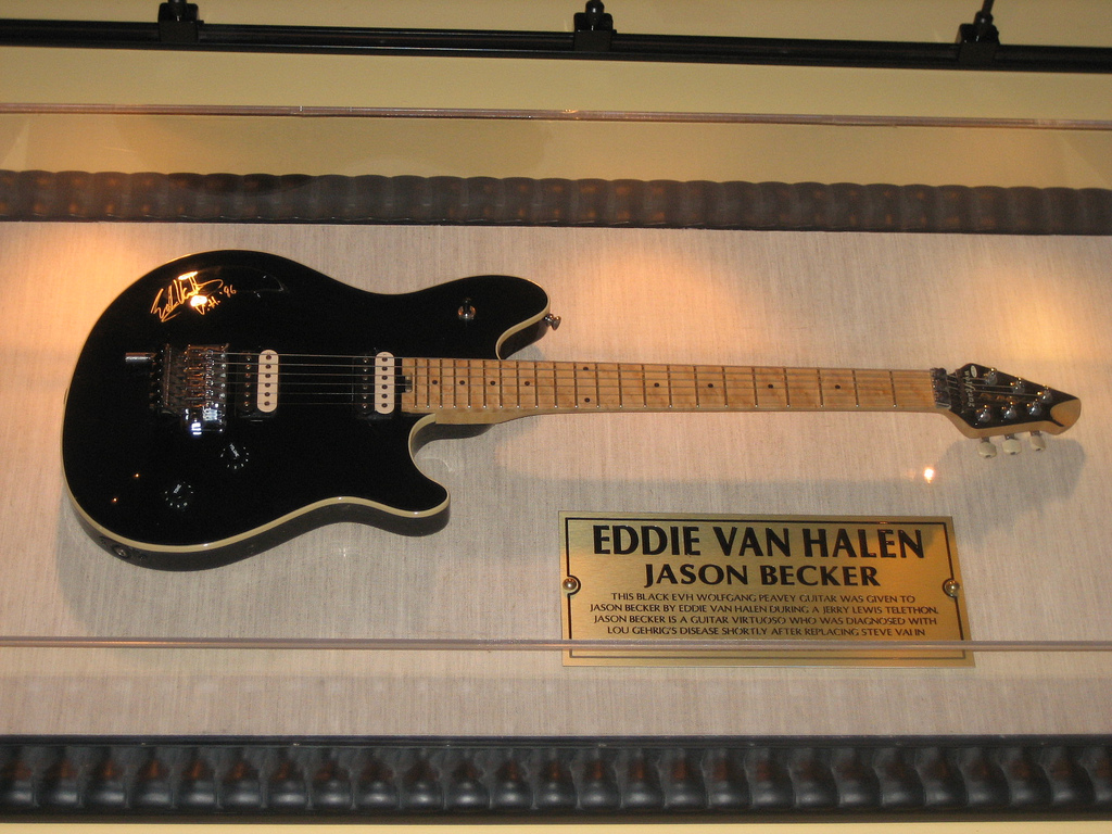 The guitar of Jason Becker given by Edward van...