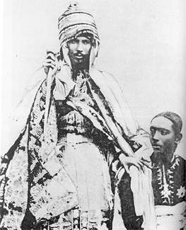 His Imperial Majesty Emperor Yohannis IV, Emperor of Ethiopia and King of Zion, with his son and heir, Ras Araya Selassie Yohannis