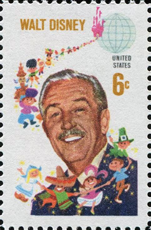 US postage stamp of 1968 depicting Walt Disney