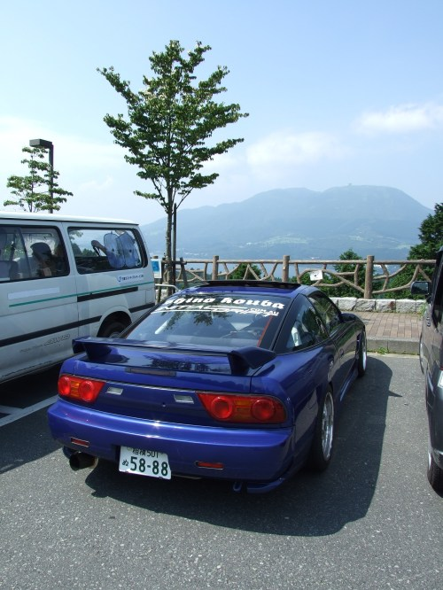 small resolution of final 180sx showing the revised tail lights spoiler and rear trims