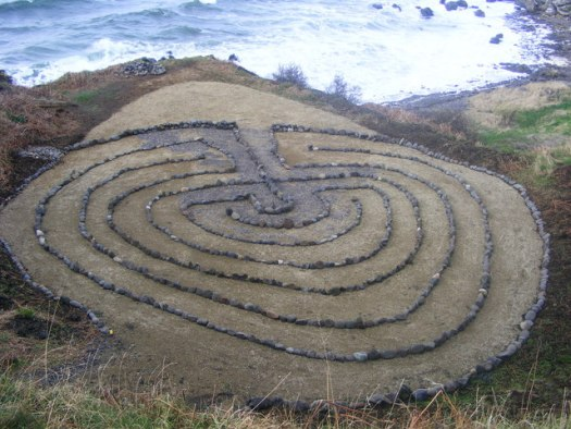 English: Labyrinth in Kennedy Park Dunure Laby...